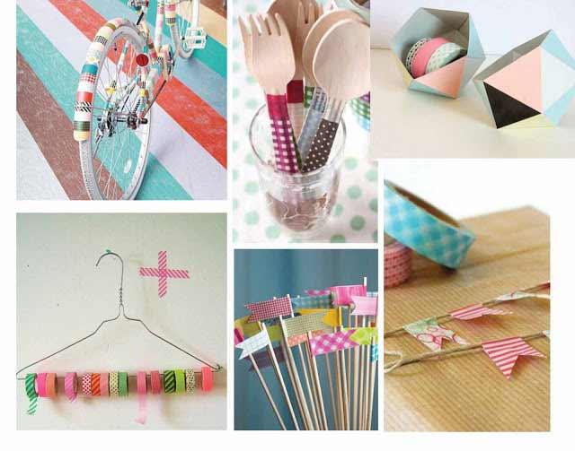 masking tape washi montage