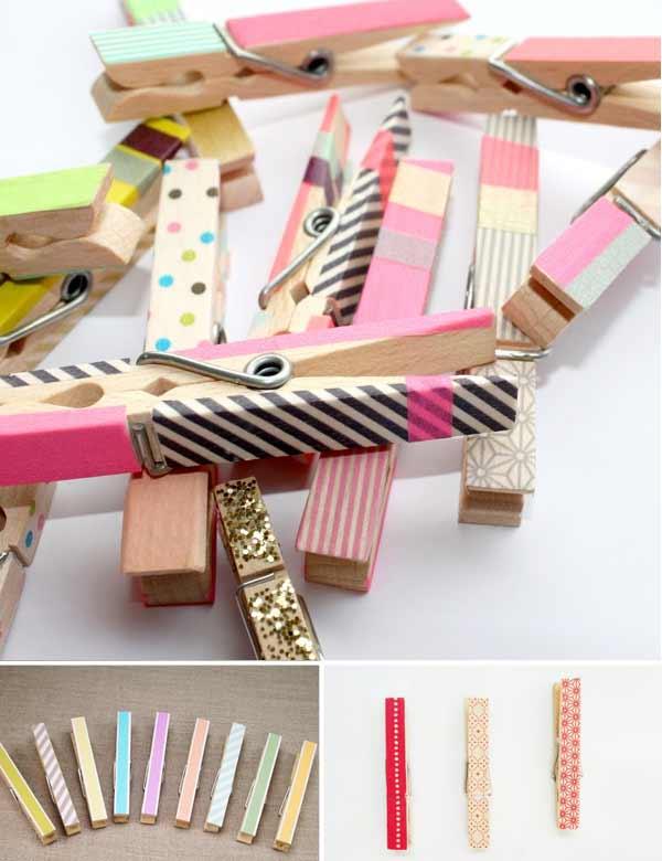 masking tape washi pince linge